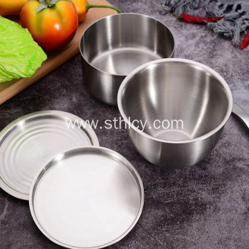 Korean Household Stainless Steel Bowl With Lid