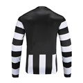 Mens Dry Fit Soccer Wear Sweatshirt Black White