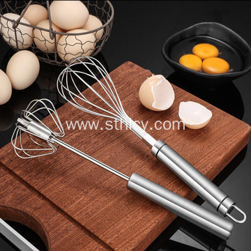 Stainless Steel Semi-Automatic Egg Whisk