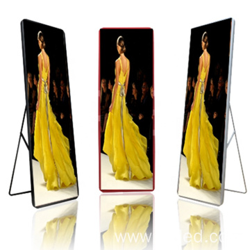 P1.538 Video Advertising Led Mirror Display Poster