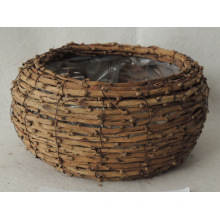 Handmade decorative rattan basket
