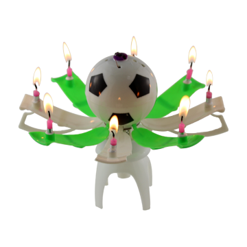 1 Pc Birthday Ball Lilin Bola Sepak Muzik