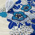 Bright Multicolor Poly Chemical Lace Embroidery Fabric