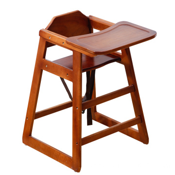 Restaurant wooden portable modern baby feeding eating high chair