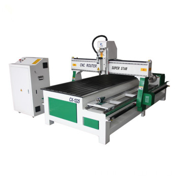With rotary CNC Router Wood Machine