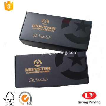 Black printed corruagerd paper box with polishing