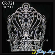 "10"" Big Tall Rhinestone Crowns For Sale"