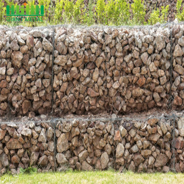 Flood control wire twisted woven hexagonal gabion