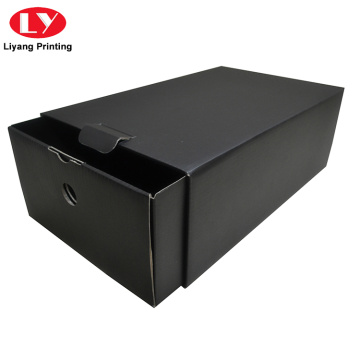 Matte Black Custom Empty Cardboard Shoe Box Gift