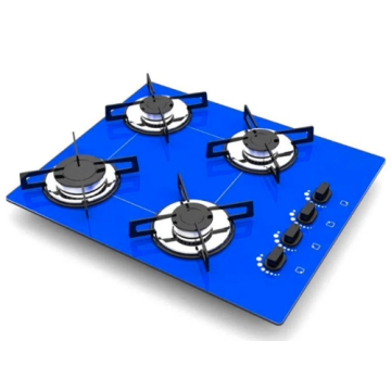 Gas Cooker 60cm Blue Glass
