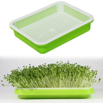 Hydroponics Seed Germination Tray Seedling Sprout Plate Grow Nursery Pots Vegetable Seedling Pot Plastic Nursery Tray H1