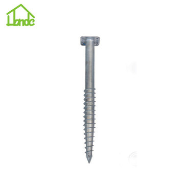 Different types and sizes of ground screw