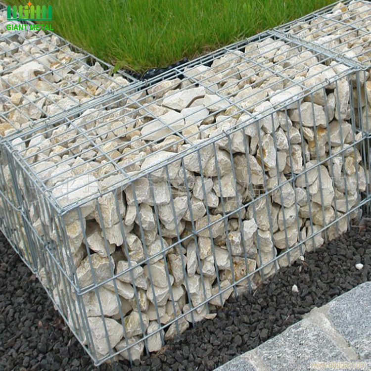 Heavy galvanized wire mesh garden fence gabion box