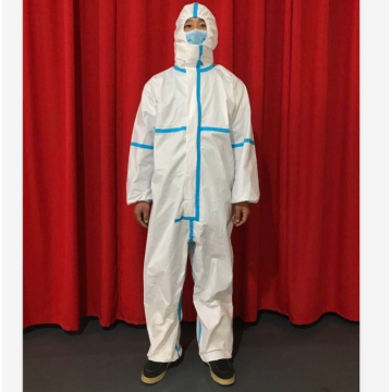 white sterile disposable medical protective gowns coverall