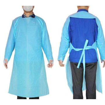 disposable open back cpe aprons with ce and fda