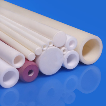 Alumina Single Hole Round Ceramic Tube Insulators