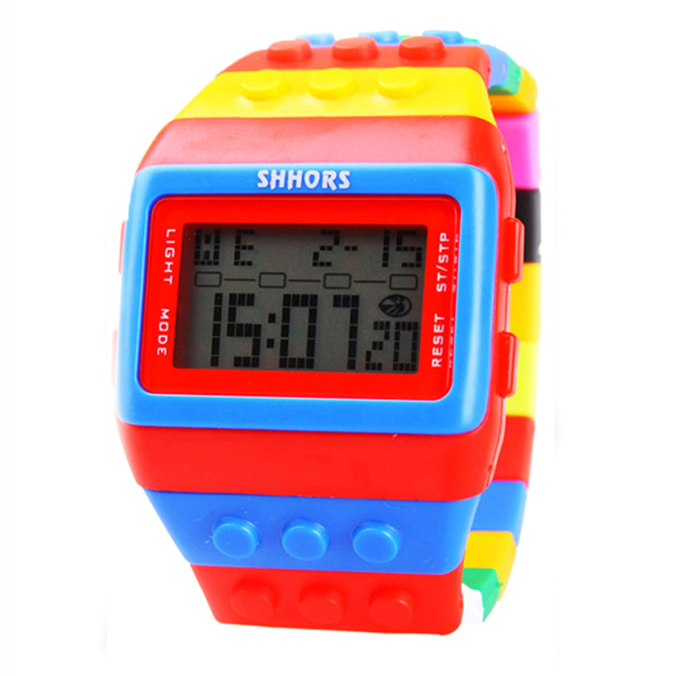Colorful Children Silicone LED Digital Watch