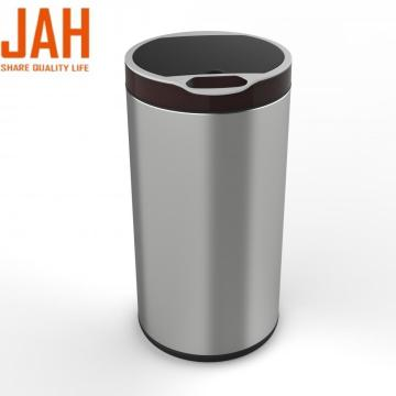 JAH 430 Stainless Steel Round Induction Trash Bin