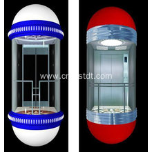 Circular type luxury sightseeing elevator