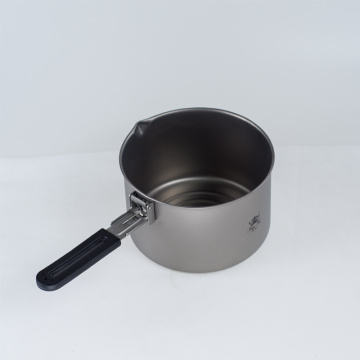 Pure titanium outdoor stockpot