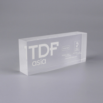 Personalized 3D Clear Acrylic Blocks
