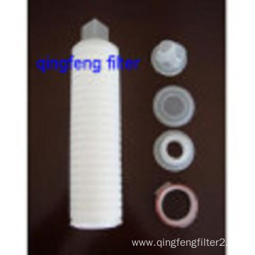 PTFE Pleated flter cartridge for air filtration