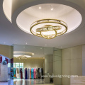 Shopping mall clothing shop glass crystal led chandelier