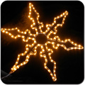 2D motif christmas decor hanging led snowflake lights