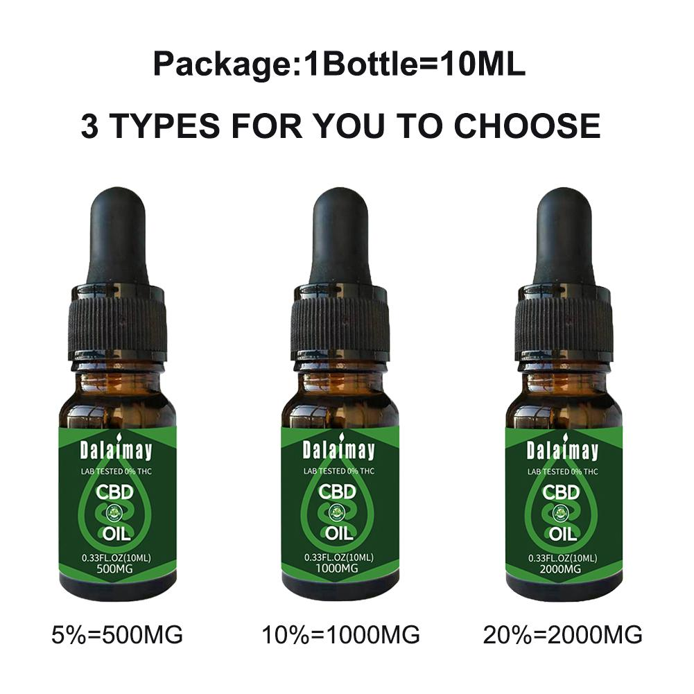 5%\10%\20% 10ml CBD Content Oil Organic Hemp Seed Oil Massage Oil For Anti-anxiety Help Insomnia Pain Relief Improve Sleep 2020