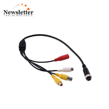 MDVR Camera Accessories Aviation Female Connector AV DC BNC Audio Video Cable