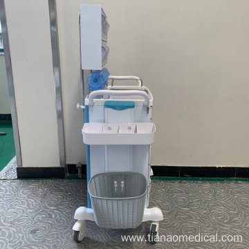 Hospital Anesthesia Trolley with Tilt Bin Orgnizers