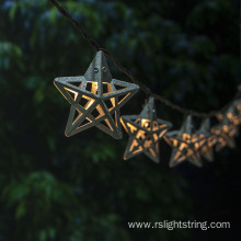 Outdoor LED Steel Hollow-out Star String 3AA Battery