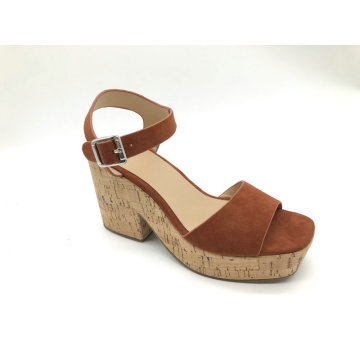 chunky heel platform sandal for women