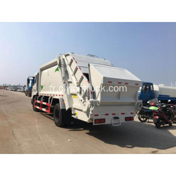 VENTE CHAUDE Dongfeng 180hp 12cbm Compacted Garbage Truck