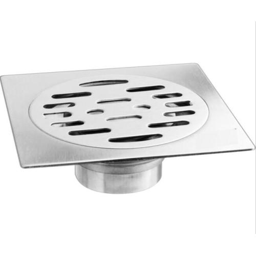 Square kitchen floor conceals invisible floor drain