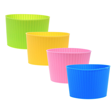 Heat-resistant Flexible Silicone Coffee Cup Sleeve
