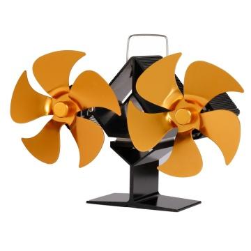 8 Blade fireplace Fan Mouted Head Heat Powered Stove Fan Log Wood Burner Eco Friendly Quiet Fan Home Efficient Heat Distribution