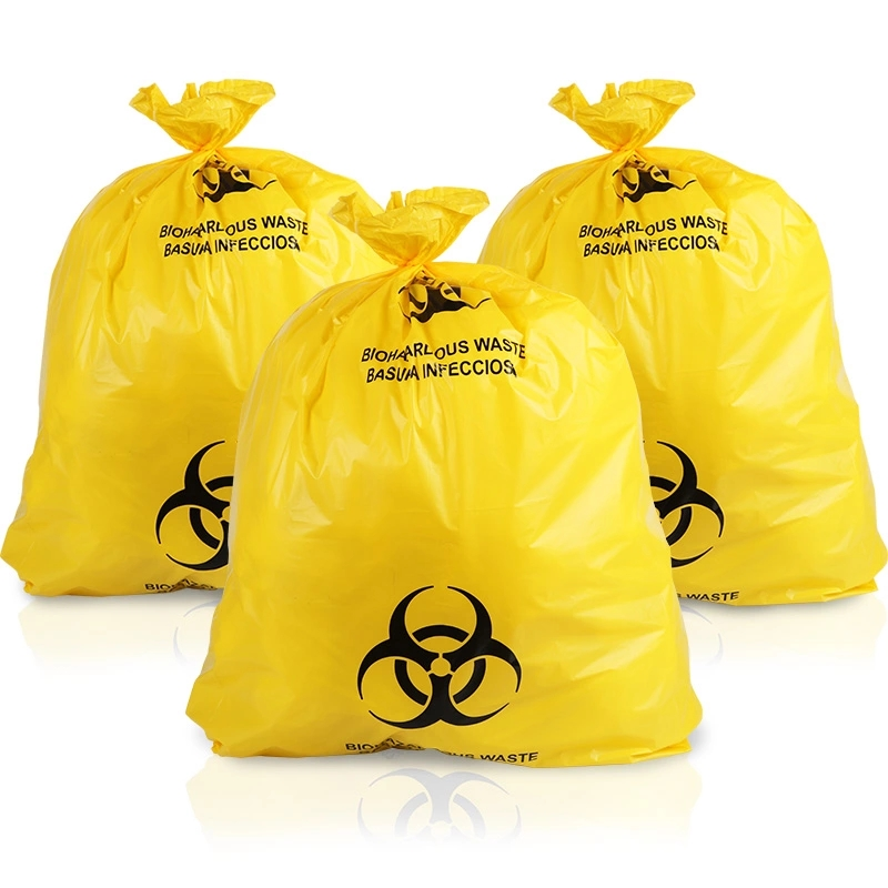 Disposable Custom Size Medical Biohazard Waste Bag