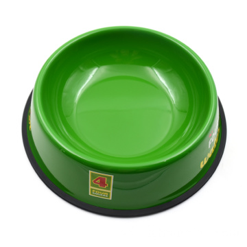 Stainless Steel Full Green Color Coating Pet Bowl