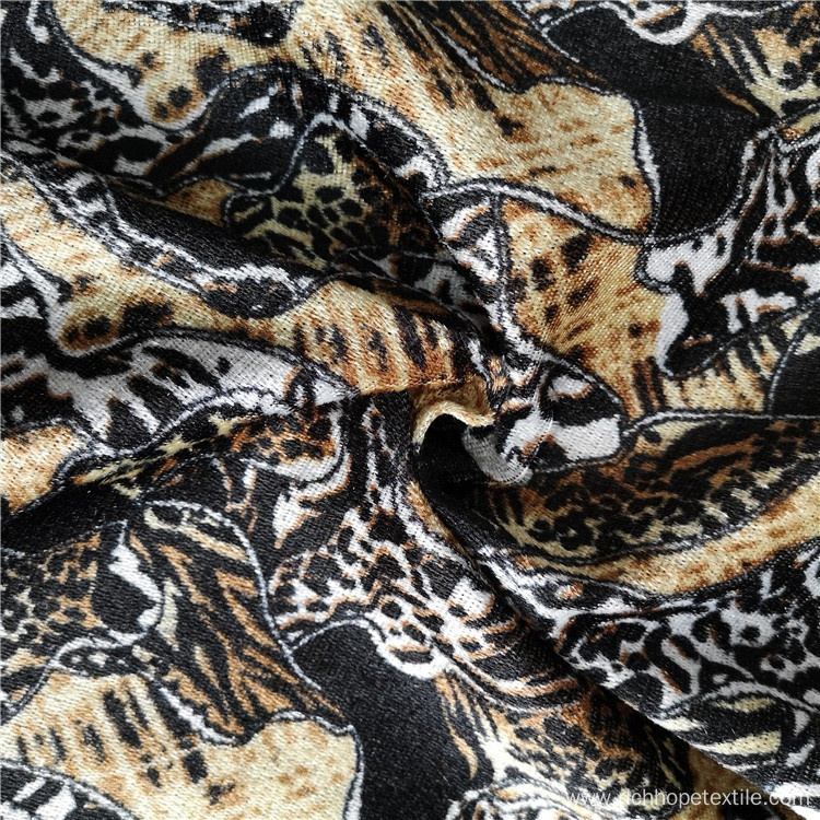Polyester Printed Velvet African Textile Fabric For Garment