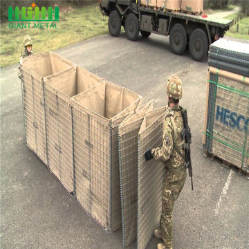 Army using hesco mil 7 fire-retardant hesco