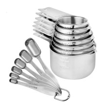 stainless steel tablespoon measuring cups and spoons set