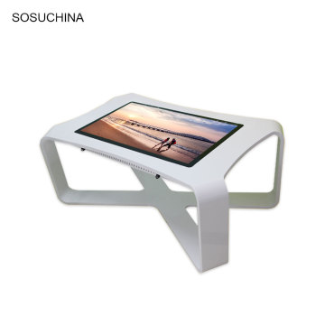kiosque interactif mobile d'aluminium de contact pour la table de thé