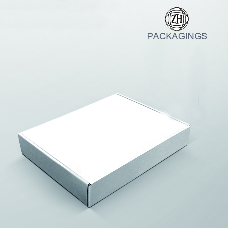 White shipping box for apparel retail