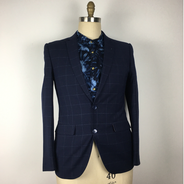 High quality Men's Tailor Made Grid OEM SERVISE suit