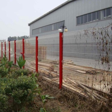 PVC coated decorative welded wire mesh fencfe panels