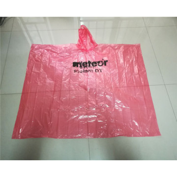 colorful customized logo pe rain poncho