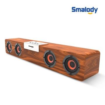 20W Soundbar Wireless Bluetooth v5.0 TWS Powerful Stereo Wooden Speaker Music Subwoofer Computer TF FM Radio For Home PC