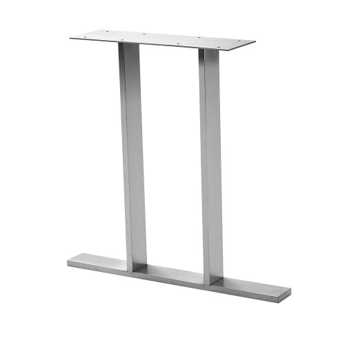 industrial style welded steel trapeze I table legs