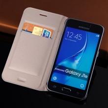 Slim Wallet Case For Samsung Galaxy J1 2016 J120 J120F J120H J120M Phone Sleeve Bag Flip Cover With Card Holder Business Purse